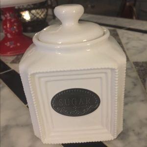 Shabby chic sugar bowl with lid